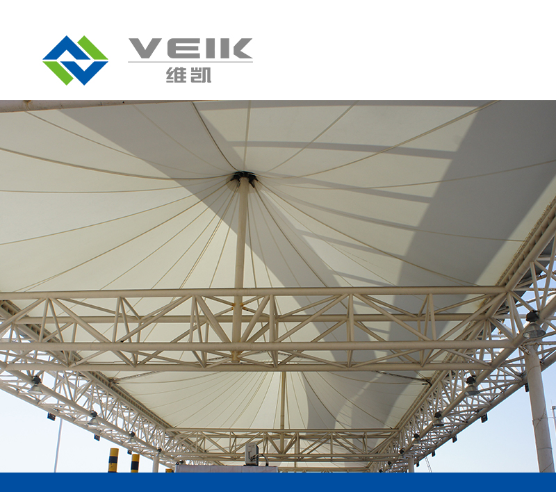 Tetrafluorin fabric construction membrane